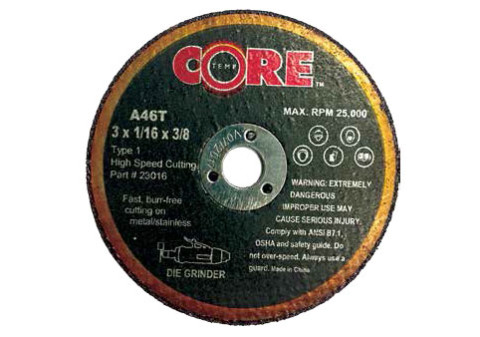 Bullard Abrasives 4 x 1//16 x 3//8 Metal Cut-Off Wheel for Die Grinder United USA